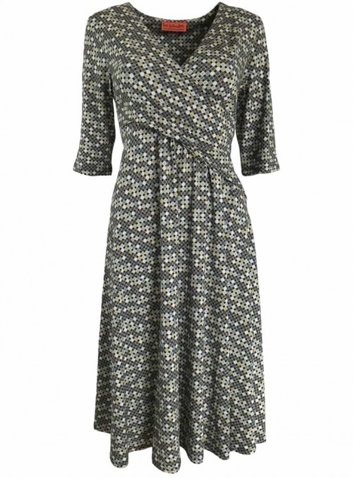 Dot & Doodle's klänning Poppy Ball Green