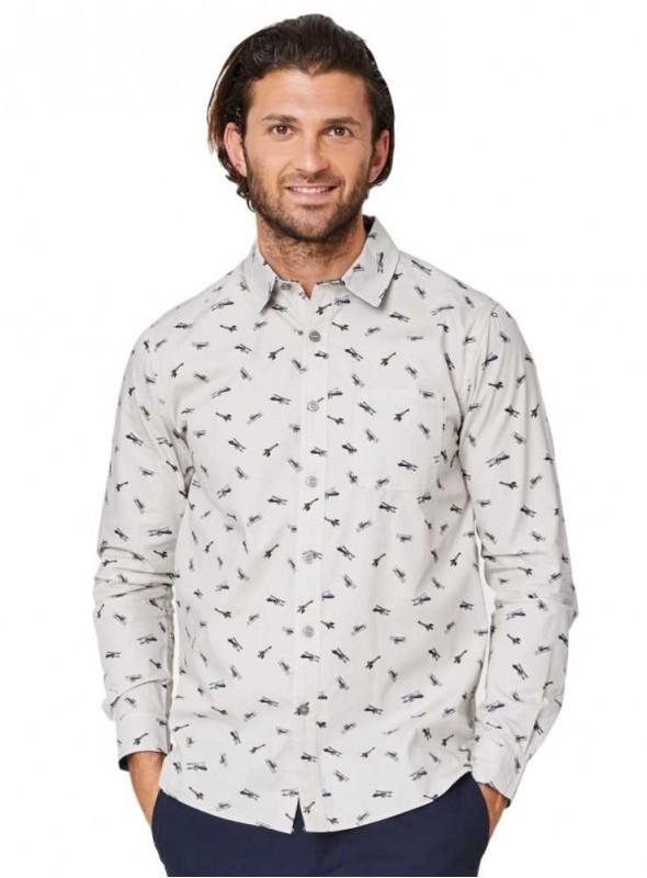 Skjorta ekologisk bomull med mönster av flygplan från Thought ... f79598997fa0b