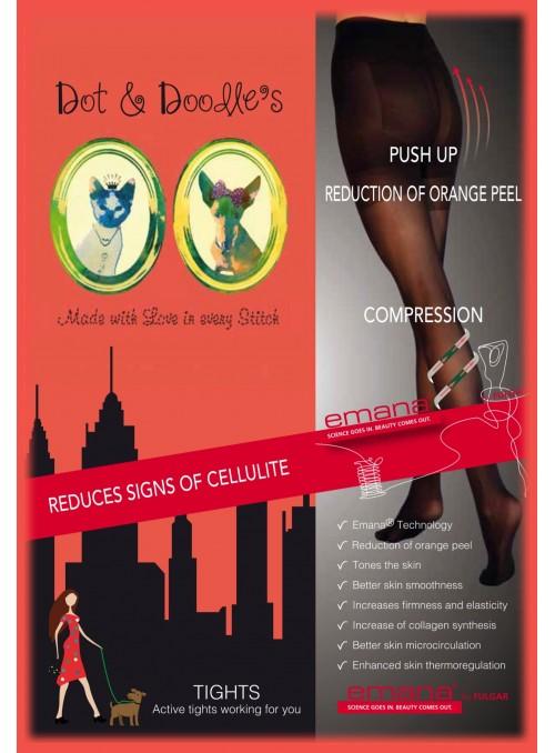 Anti-cellulite strumpbyxa Emana® 40 denier, svart