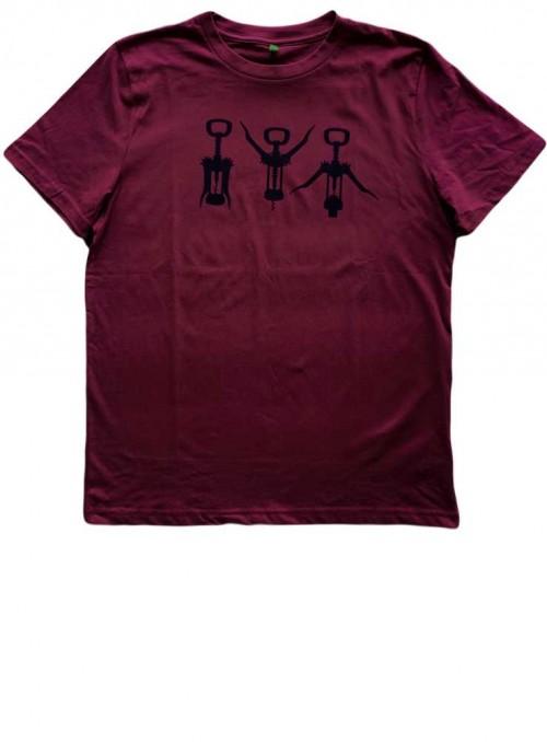 T-shirt, herr, ekologisk bomull, Wine