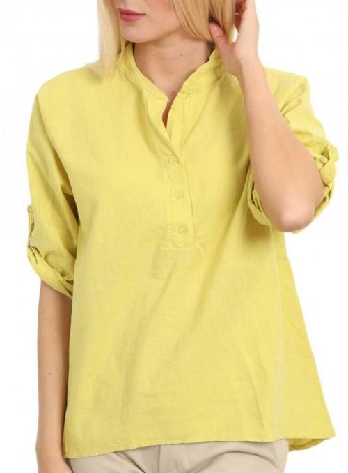 Linne skjorta gul från Copenhagen Luxe