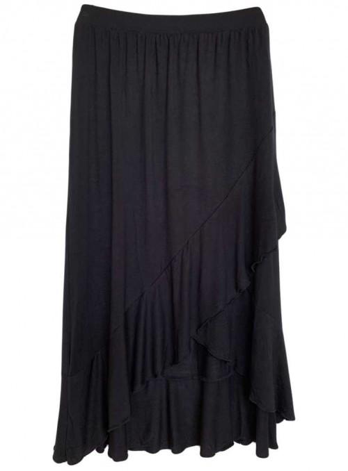 Bambu trikåkjol svart