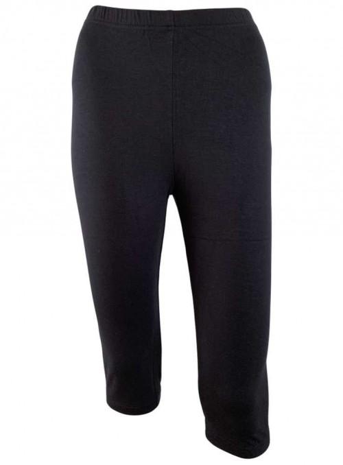 Korta leggings av bambu, svart