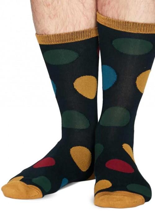 Bambus sokker koksgrå, prikker, med økologisk bomuld, håndketlet tå, Thought