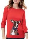 Stikkad tröja Miranda med hund från Joules